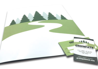 Graphic Design Edmonton RVC_PrintPKG_GreenPath